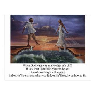 Caminhada da fé cartão postal