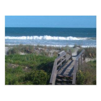 caminhada da praia cartão postal