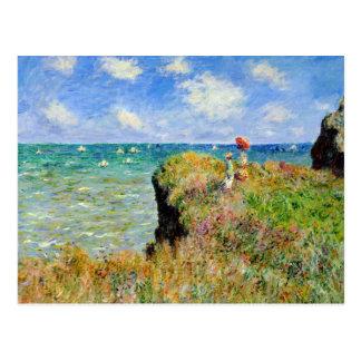 Caminhada de Claude Monet Clifftop Cartão Postal