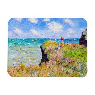 Caminhada de Clifftop em Pourville Claude Monet Foto Com Ímã Retangular