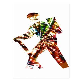 Caminhada - design vermelho cósmico da faísca cartao postal