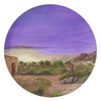 Caminhada do deserto pratos