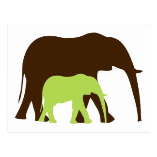 Caminhada do elefante cartão postal