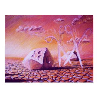 Caminhada do por do sol em Diceland Cartão Postal