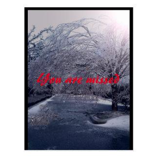 Caminhada dos invernos cartão postal