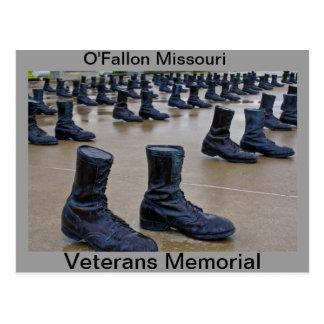 Caminhada memorável dos veteranos cartão postal