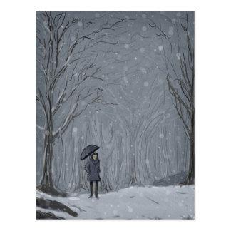 Caminhada nevado cartão postal