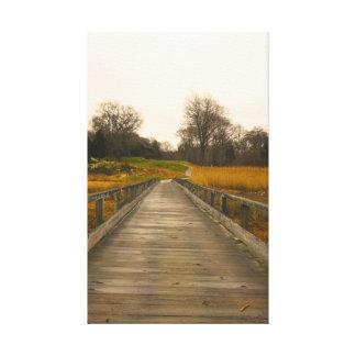 Caminhada original da natureza da fotografia impressão em tela