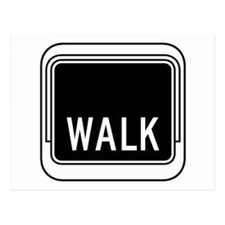 Caminhada, sinal de tráfego, EUA Cartão Postal