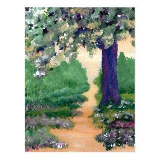 Caminhada vinda comigo - material da arte de cartão postal
