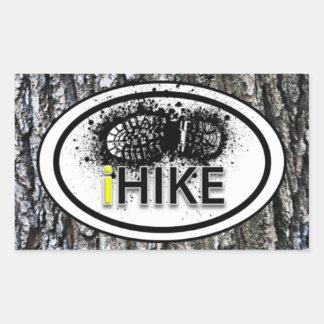 """Caminhando a bota do """"iHIKE"""" imprima etiquetas do Adesivo Retangular"""