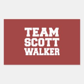 Caminhante 2016 de Scott da equipe Adesivos Em Forma Retangular