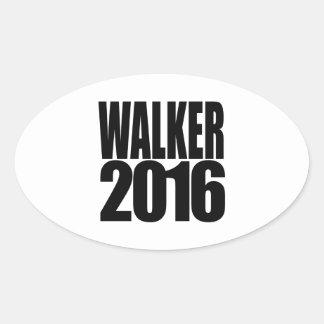 Caminhante 2 de Scott 0 1 6 - eleição 2016 Adesivos Ovais