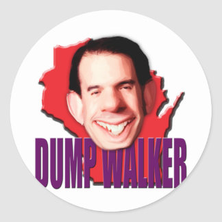 Caminhante de Scott do governador de Wisconsin da Adesivo Redondo