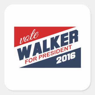 Caminhante de Scott do voto para o sinal do Adesivo Quadrado