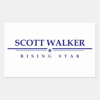 Caminhante de Scott: Estrela da ascensão Adesivo Retangular