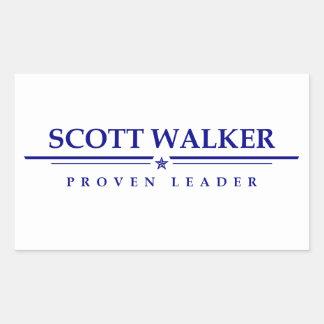 Caminhante de Scott: Líder provado Adesivo Retangular