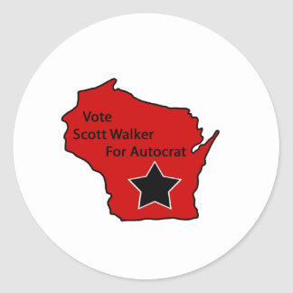 Caminhante de Scott para o autocrata Adesivo