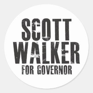 Caminhante de Scott para o governador 2010 Adesivo