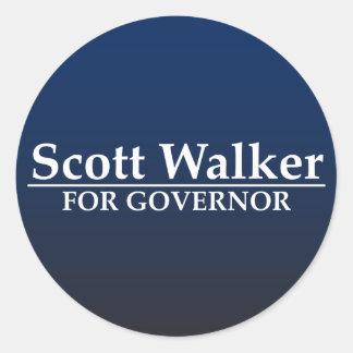 Caminhante de Scott para o governador Adesivos Redondos