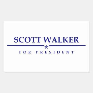 Caminhante de Scott para o presidente Adesivo Retangular