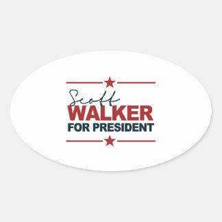 Caminhante de Scott para o presidente assinatura Adesivos Oval