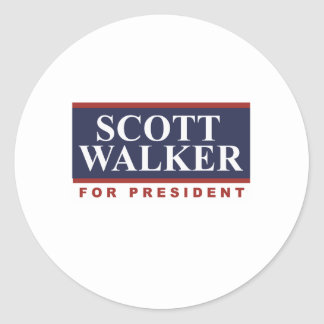 Caminhante de Scott para o presidente Campanha Adesivos Em Formato Redondos