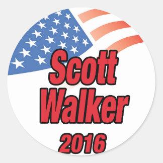 Caminhante de Scott para o presidente em 2016 Adesivo