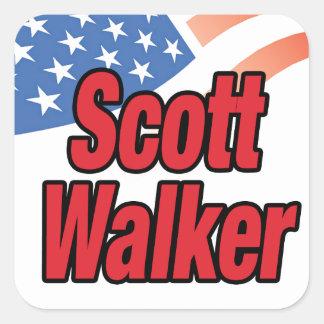 Caminhante de Scott para o presidente em 2016 Adesivo Quadrado