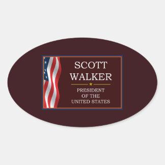 Caminhante de Scott para o presidente V3 Adesivo Oval