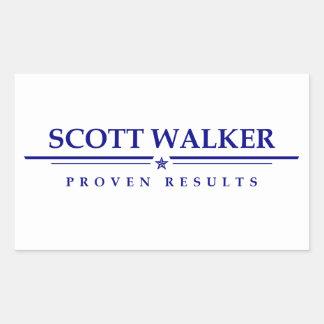 Caminhante de Scott: Resultados provados Adesivo Retangular