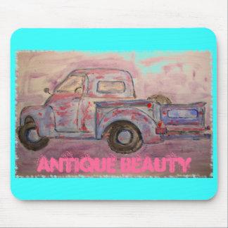 caminhão azul do patina da beleza antiga mousepad