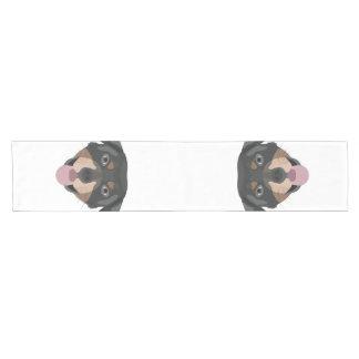 Caminho De Mesa Pequeno A ilustração persegue a cara Rottweiler