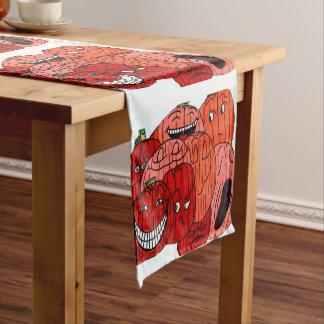 Caminho De Mesa Pequeno Tablecloth PARVO do REMENDO da ABÓBORA
