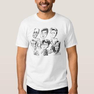 Camisa 11a da caricatura do tênis t-shirts