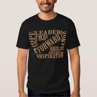 Camisa 2012 dianteira de Barack Obama Tshirts