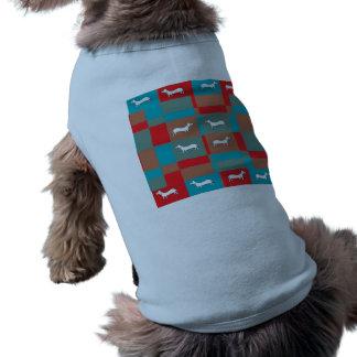 Camisa abstrata do design do cão camisa sem mangas para cachorro