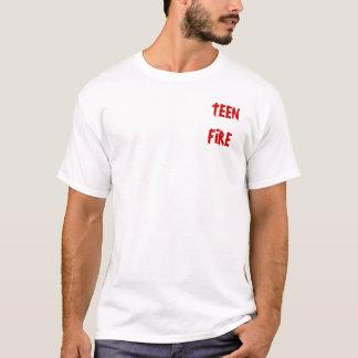 Camisa adolescente do logotipo do fogo