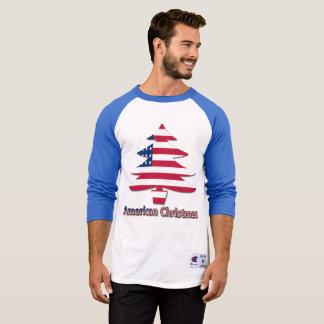 Camisa americana da árvore de Natal