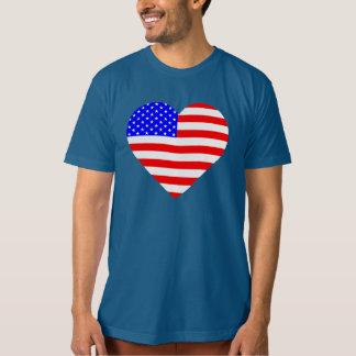 Camisa americana da bandeira do coração