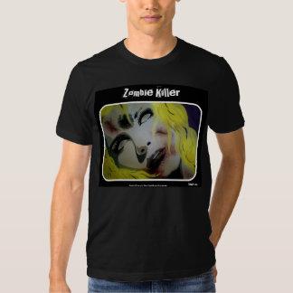 Camisa americana do roupa do assassino do zombi camiseta