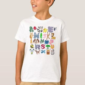 Camisa animal do alfabeto T