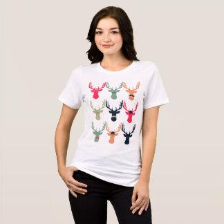 Camisa apta relaxada cervos do hipster