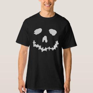 Camisa assustador do preto da cara do Ghoul da Camiseta