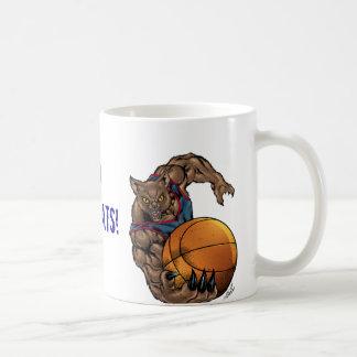 Camisa azul da arte do basquetebol dos Wildcats, Caneca De Café