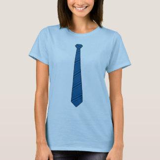 Camisa azul da gravata