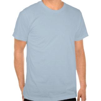 Camisa azul da gravata t-shirt