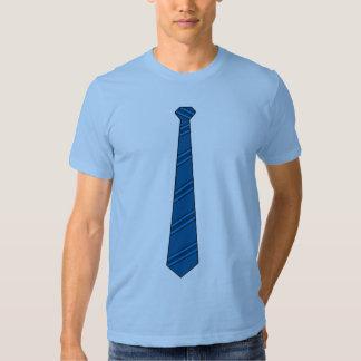 Camisa azul da gravata t-shirts