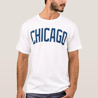 Camisa azul de Chicago e branca clássica de t