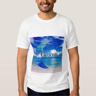 Camisa azul do noivo | T da lua | do oceano Tshirts
